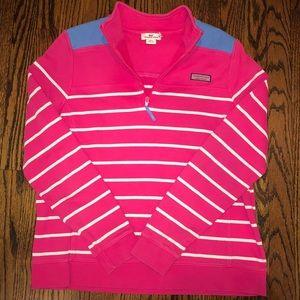 Pink and White Striped Vineyard Vines Shep Shirt